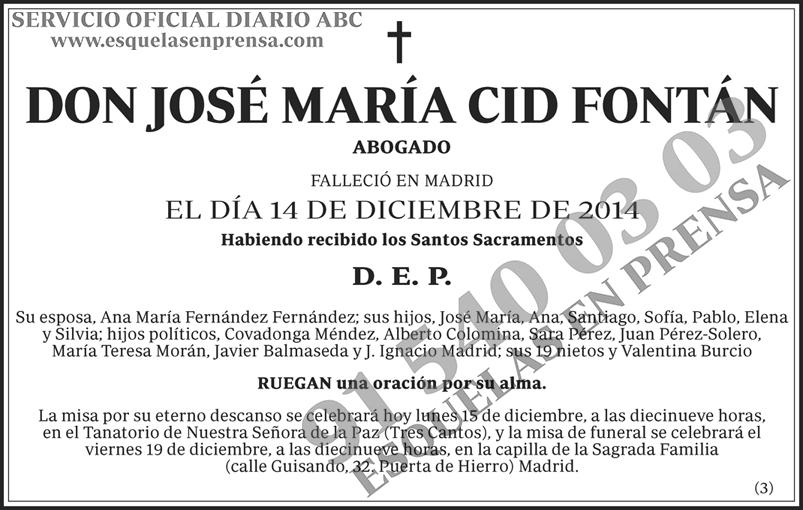 José María Cid Fontán